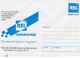 ROMANIA 1999: ROMANIAN COMPUTER COMPANY Unused Prepaid Cover 012/1999 - Registered Shipping! - Entiers Postaux