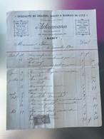 1900 Facture Colliers Selles Harnais De Luxe ACKERMANN NANCY Avec Timbre 10 Centimes Quittances Reçus - 1900 – 1949