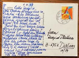 SVIZZERA - SUISSE - SALZBURG - POST CARD FROM KEMPRATEN  4/4/97 TO DALUAS - Mundo