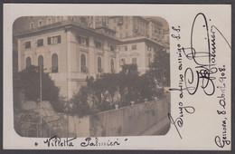 Italia  - VILLETTA PALMIERI - 1908 - Genova