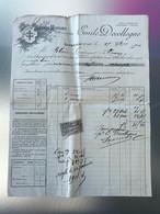 1900 Facture Emile Decollogne Grand Moulins A Cylindre Avoine Gros Sons Liverdun NANCY Timbre 10c Quittances Reçus - 1900 – 1949