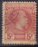 MONACO - 5 F. Charles III Oblitéré FAUX - Oblitérés