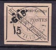 GABON - 15 C. Noir Sur Rose De 1889 Oblitéré  FAUX - Used Stamps