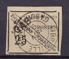 GABON -25 C. Noir Sur Vert De 1889 Oblitéré  FAUX - Usados