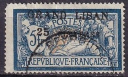 GRAND LIBAN - 25 Pi. Sur 5 F. Merson Oblitéré - Used Stamps