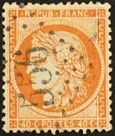 YT 38 LGC 556 Bourbonne-les-Bains Haute-Marne (50) (°) 1870-71 CERES Siège De Paris 40 C (10 Euros) France – 4bleu - 1870 Besetzung Von Paris