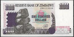 ZIMBABWE  UNC  1000 DOLLARS  1995  P9  SERIE JB - Zimbabwe