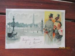 Carte Illustrateur  C Betouf Couple Monocle Place Concorde - Autres