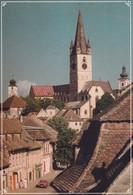 Romania -  Postcard Unused - Sibiu - Tower Street With The Evangelical Church - Romania