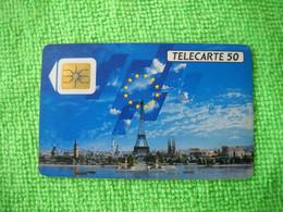 7217 Télécarte Collection FRANCE TELECOM  50 U Tour Eiffel Paris Moulin étoiles Europe( Recto Verso)  Carte Téléphonique - Operatori Telecom