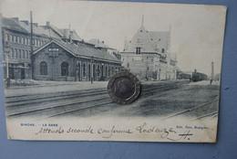 5094/BINCHE - La Gare - (1907)envoi Mr M... Brasseur Rue Des Brasseurs - Gares - Avec Trains