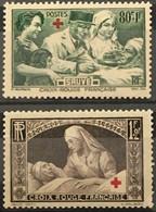 YT 459 460 (*) MH 1940 Au Profit Des Blessés (côte 12,5 Euros) France – Gelu - Unused Stamps