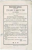 BRAFFE / CHAUSSEE-NOTRE-DAME / CELLES  - Jean PROCUREUR  +1875 -  Ancien Bourgmestre - Veuf Pétronille Toubeau - Images Religieuses