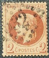 Napoléon III Lauré  N° 26A (Variété, Petit Point Devant Le Cou) Avec Oblitération Losange 532  TB - 1863-1870 Napoleone III Con Gli Allori
