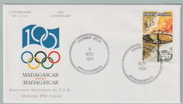 Madagascar FDC 1994 IOC Centenary (G133-40) - Sonstige