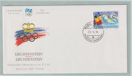 Liechtenstein FDC 1994 IOC Centenary (G133-40) - Sonstige