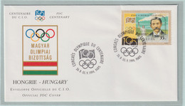 Hungary FDC 1994 IOC Centenary (G133-40) - Sonstige