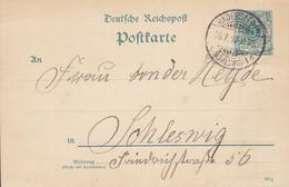 Deutsche Reichspost Postal Stationery Ganzsache Entier (392 G) 5 Pf. HADERSLEBEN (Schleswig) 1892 BARON Von Der HEYDE - Interi Postali