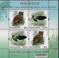 "MOLDAVIA /MOLDOVA /MOLDAWIEN  -EUROPA 2021 -ENDANGERED NATIONAL WILDLIFE""- HOJITA BLOQUE Del CARNET / BOOKLET - 2020"
