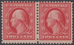 !a! USA Sc# 0332 MNH Horiz.PAIR -George Washington - Unused Stamps