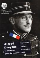 M - CARTE PUBLICITAIRE - PARIS - MUSEE D'ART ET D'HISTOIRE DU JUDAISME - EXPOSITION ALFRED DREYFUS - 2006 - Otros