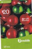 ANTIGUA & BARBUDA - Christmas, Cable & Wireless Prepaid Card $20+5, Used - Antigua And Barbuda