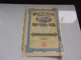 SAN PEDRO Y VEGA Mines De Cuivre Argentifère (mexique) - Unclassified