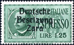 ZARA, OCCUPAZIONE TEDESCA, ESPRESSI, 1943, 1,25 £, FRANCOBOLLO NUOVO Mi:DE-ZA 21, Yt:YU-ZA E1 - Ocu. Alemana: Zara
