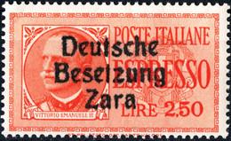 ZARA, OCCUPAZIONE TEDESCA, ESPRESSI, 1943, 2,50 £, FRANCOBOLLO NUOVO Mi:DE-ZA 22, Yt:YU-ZA E2 - Ocu. Alemana: Zara
