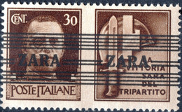 ZARA, OCCUPAZIONE TEDESCA, PROPAGANDA, 1943, 30 C., FRANCOBOLLO NUOVO Mi:DE-ZA 36II - Ocu. Alemana: Zara