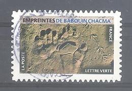France Autoadhésif Oblitéré N°1957 (Empreintes De Babouin Chacma) (cachet Rond) - Gebruikt