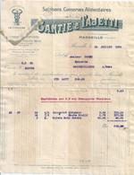 FACTURE Marseille Gantié & Tajetti 1932 - 1900 – 1949
