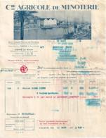 FACTURE NICE Compagnie Agricole De Minoterie 1934 - 1900 – 1949
