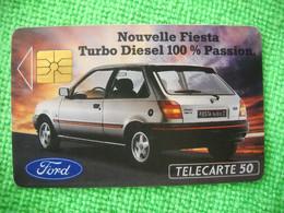 7219 Télécarte Collection FORD FIESTA TURBO DIESEL  50 U  ( Recto Verso)  Carte Téléphonique - Automobili