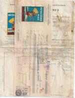 FACTURE NICE Pâtes Alimentaires CERES & MEUNIER 1931 Lot De 2 Documents Fiscal - 1900 – 1949