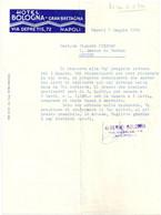 FACTURE HOTEL Gran Bretagna BOLOGNA NAPOLI 1959 - Italie