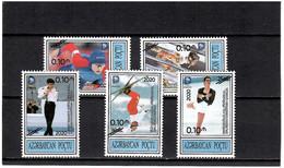 "Azerbaijan 2020. Overprinted ""0.1m 2020"" On 5v. Olympics Of 1994 . - Azerbaïjan"