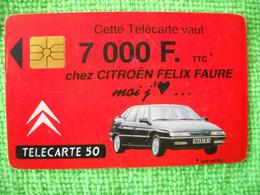 7221 Télécarte Collection CITROEN  7 000 F  50 U  ( Recto Verso)  Carte Téléphonique - Automobili