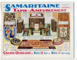 Catalogue Publicitaire A LA SAMARITAINE Tapis - Ameublement - Reclame