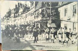 Carte Postale Ancienne Besancon Fête Des 13 14 Et 15 Aout 1910 Societe De Gymnastique - Besancon