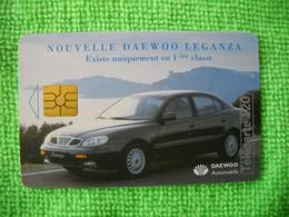 7223 Télécarte Collection DAEWOO LEGANZA Voiture  120 U  ( Recto Verso)  Carte Téléphonique - Automobili