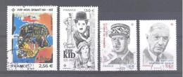 France Oblitérés : Basquiat - Charlie Chaplin - N°5444/5445 ( Général De Gaulle) (cachet Rond) - Used Stamps
