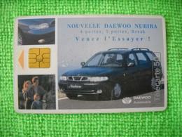 7224 Télécarte Collection DAEWOO NUBIRA Break Voiture  50 U ( Recto Verso)  Carte Téléphonique - Automobili