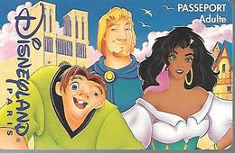 PASS--DISNEYLANDPARIS -1997-LE BOSSU ADULTE-V° N°S 019702-GRATUIT EXPIRE LE 220497-FORFAIT-TBE- - Pasaportes Disney