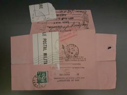 Avis Réexpédition Courrier Ouvert Par Contrôle Postal Militaire Octobre 1939, De Chantilly à Paris Et De Paris à Beaune - WW II