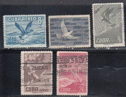 Cuba, Scott #C136-C140, Used, Birds, Issued 1956 - Airmail