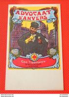 """ANTWERPEN - ANVERS  - Reclamekaart - Carte Publicitaire - """" Advocaat D'Anvers """" - Antwerpen"""