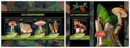 DJIBOUTI 2019 - Mushrooms - YT 2801-4 + BF528, CV=40 € [DJB190610] - Mushrooms