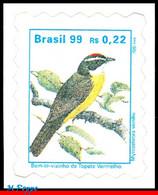 Ref. BR-2498A BRAZIL 1999 BIRDS, 'BEM-TE-VIZINHO', ANIMALS, & FAUNA, MI# 2808, DEFINITIVE MNH 1V Sc# 2498A - Unused Stamps