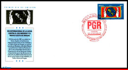Ref. MX-2317FD MEXICO 2003 HEALTH, DAY AGAINST ILLEGAL DRUGS, , ANTI DRUGS, FDC 1V Sc# 2317 - Drugs